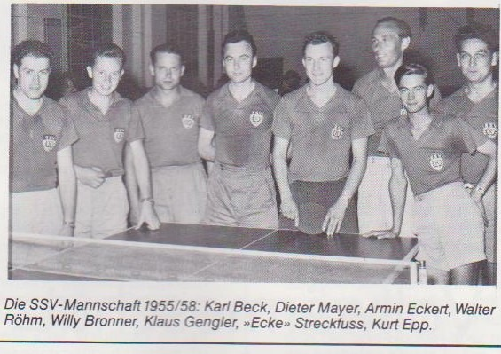 Spieler des SSV Reutlingen im Jahr 1955 bis 1958
